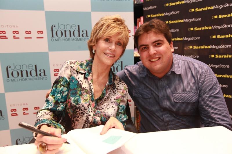 Tarde de autógrafos com Jane Fonda
