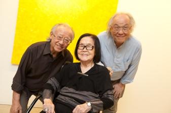 Rui, Tomie e Ricardo Ohtake
