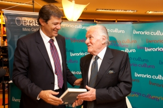 Fernando Haddad e Mino Carta