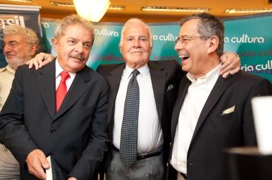 Lula, Mino Carta e Paulo Amorim