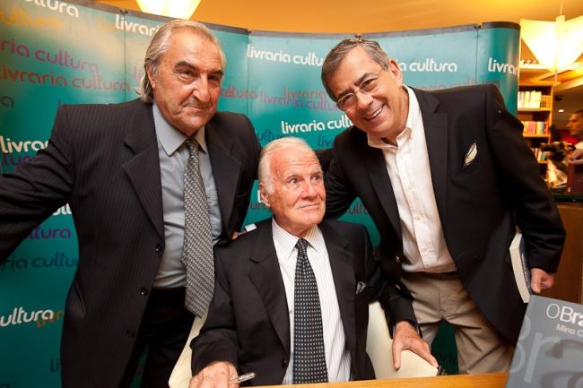 Diico Covizzi, Mino Carta e Paulo Amorim