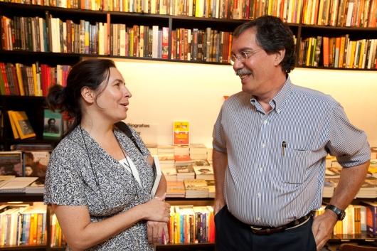 Monica Bérgamo e Merval